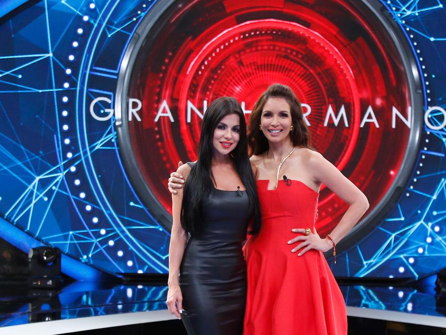 Melissa y Giselle Blondet en el escenario de Gran Hermano