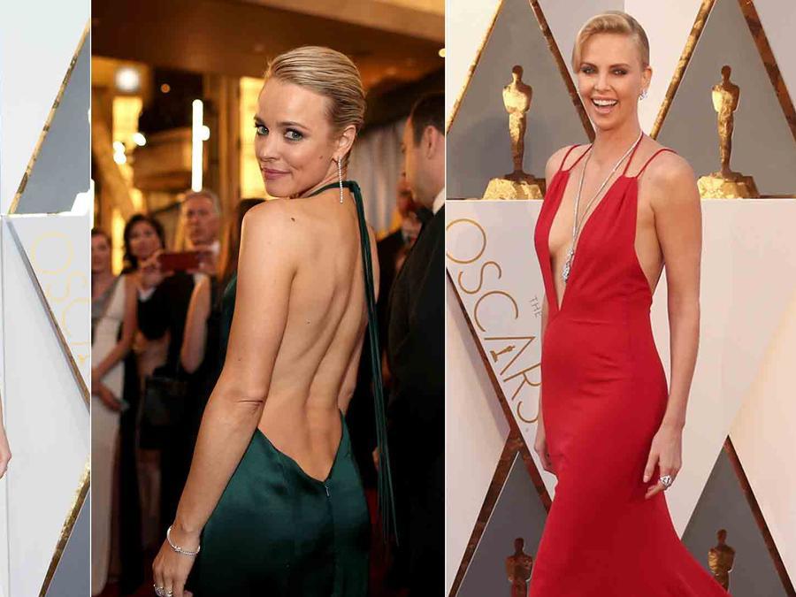 escote en la alfombra roja de los Oscar 2016