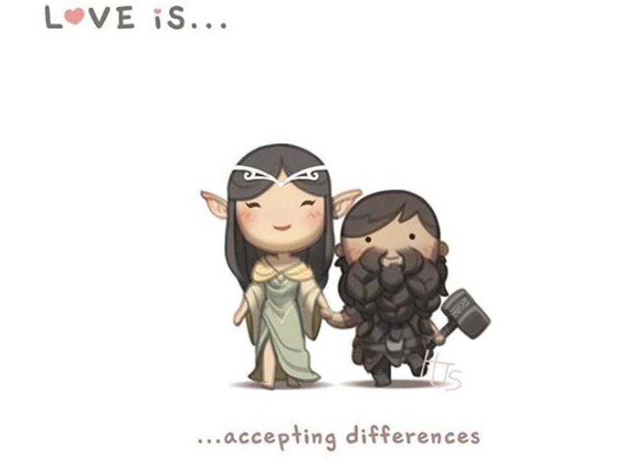 Ilustración que habla de aceptar las diferencias
