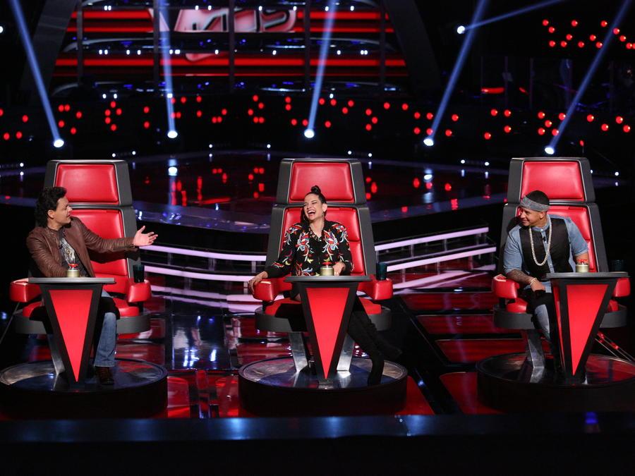 Pedro Fernández, Natalia Jiménez y Daddy Yankee en las audiciones a ciegas de La Voz Kids