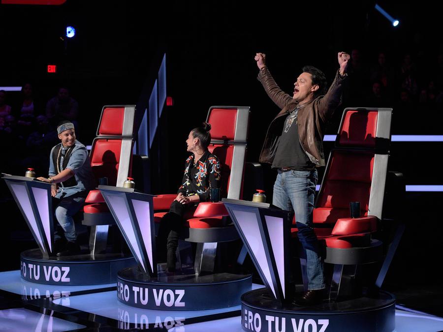 Daddy Yankee Natalia Jiménez y Pedro Fernández la voz kids 2016 audiciones a ciegas