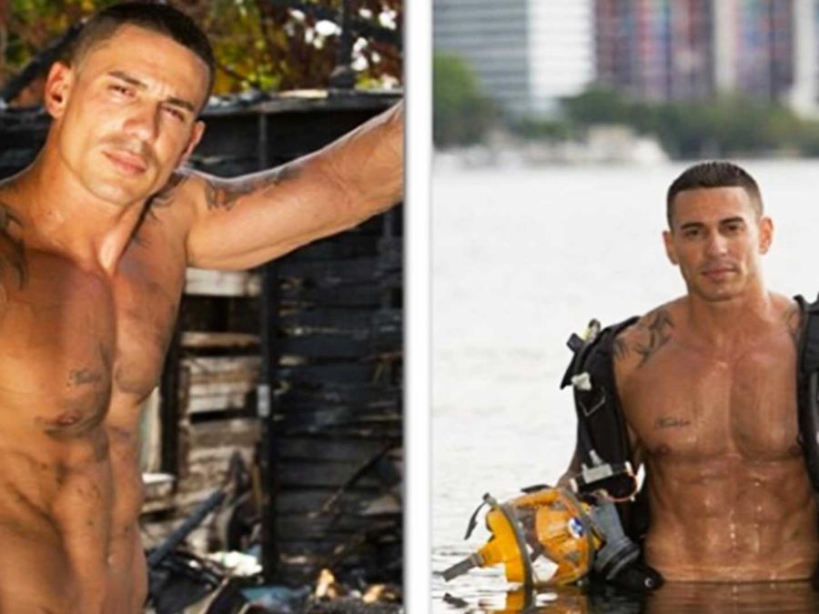 Carlos Garcia como bombero