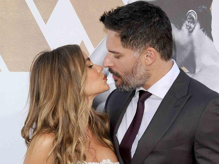 Sofía Vergara y Joe Manganiello en el estreno de Magic Mike XXL