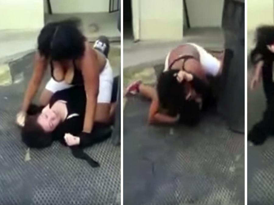 Dos mujeres se encienden a golpes en Estados Unidos