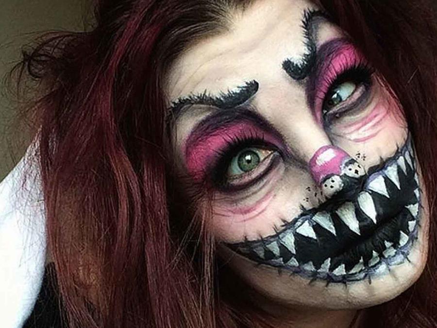 Maquillaje terrorífico de Saida Mickeviciute