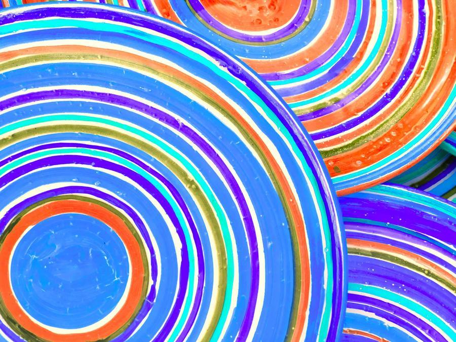 Platos de colores