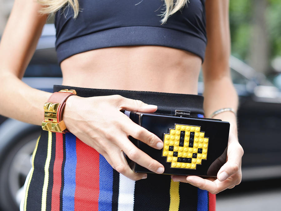 Clutch bag con happy face
