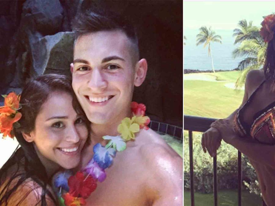 Yanet García y Doug Martin en Hawái
