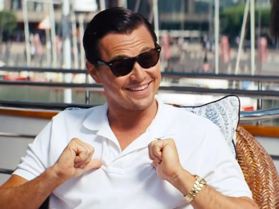 "Leonardo DiCaprio en ""The Wolf of Wall Street"""