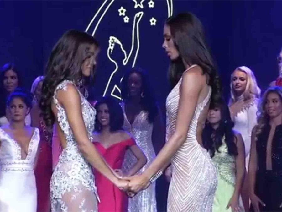 Génesis Dávila y Linette de los Santos en Miss Florida USA 2017