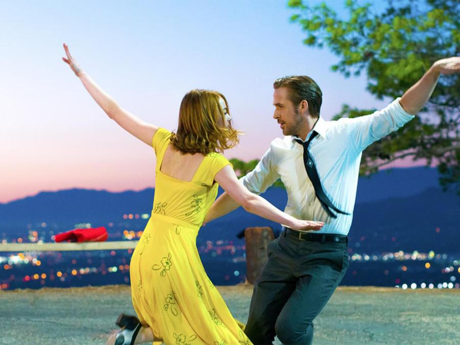 """Emma Stone y Ryan Gosling en la película """"La La Land""""."""
