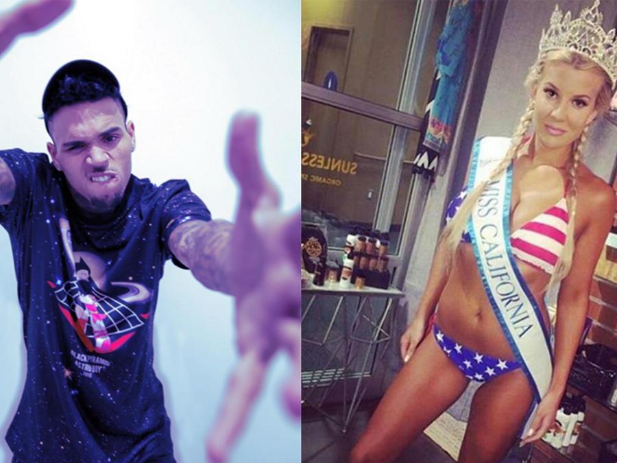 Bailey Curran, exreina de belleza, acusó a Chris Brown de amenazarla con una pistola