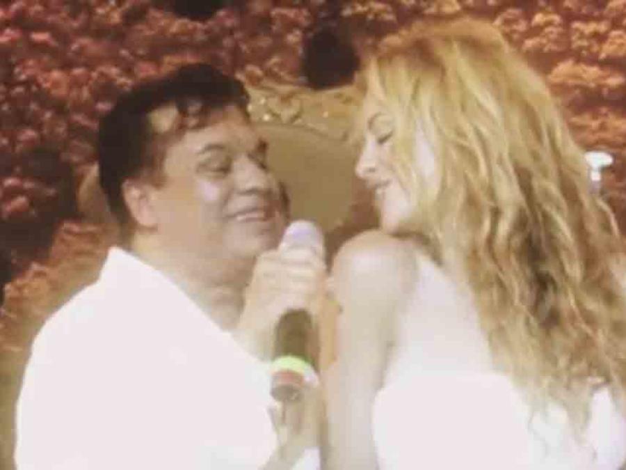 Paulina Rubio y Juan Gabriel en su boda en el 2007