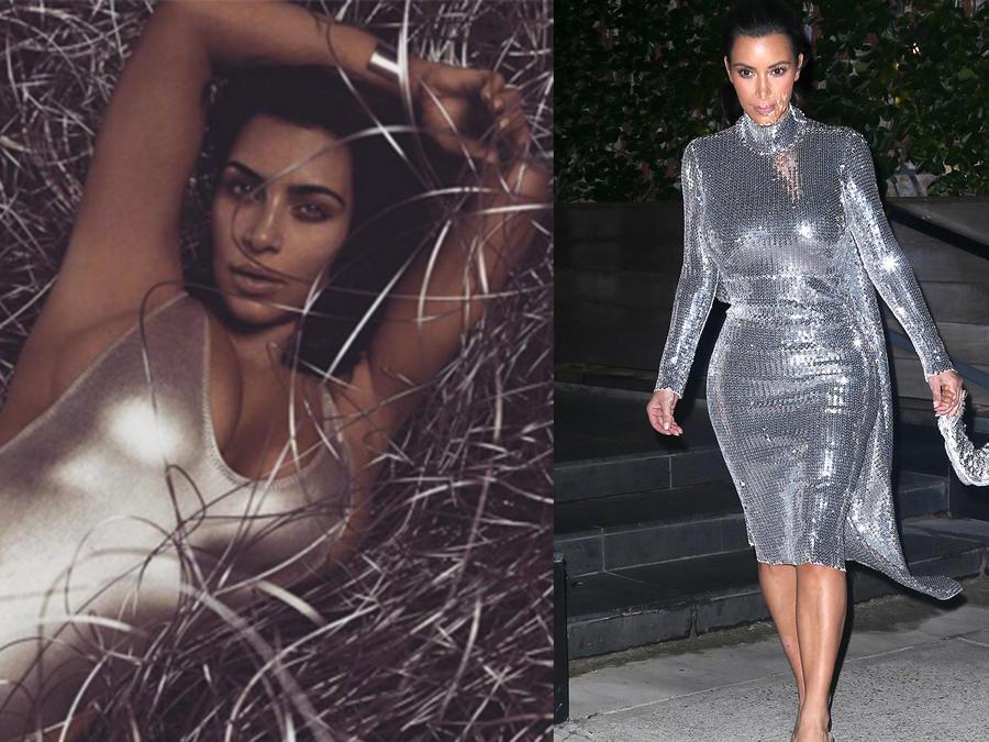 Kim Kardashian tuvo un fin de semana color plateado