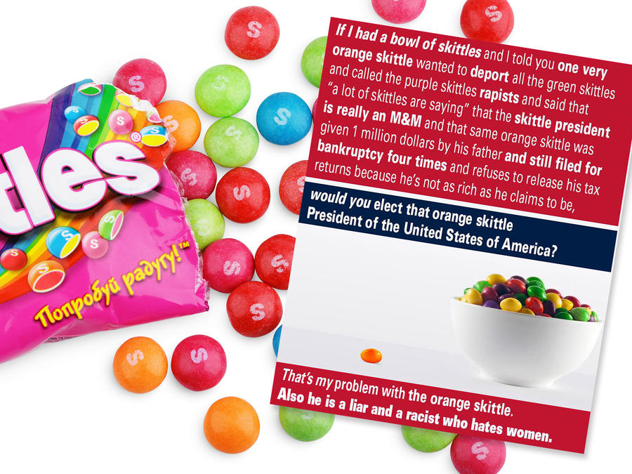 Donald Trump Jr. con Skittles