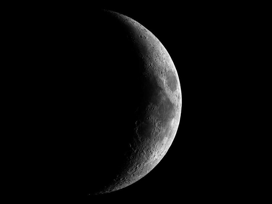 Luna cubierta por las sombras