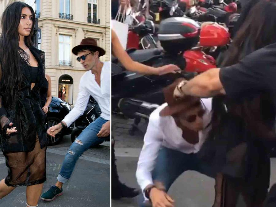 Kim Kardashian y Vitali Sediuk en París