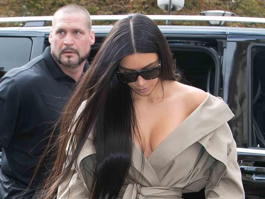 Kim Kardashian y su guardaespaldas en París