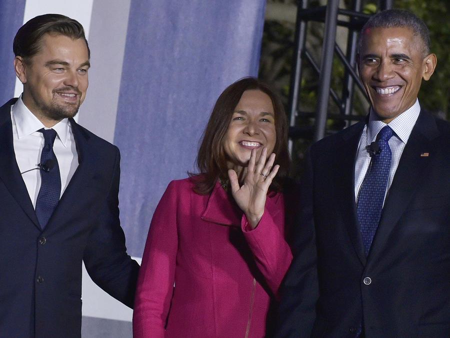 Leonardo DiCaprio se reúne con el presidente Barack Obama