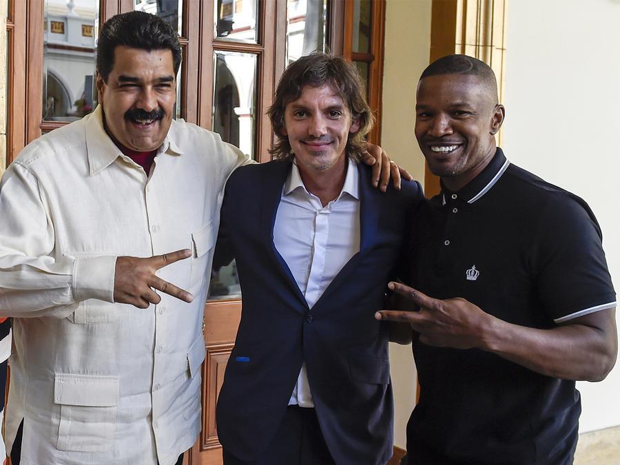 Jamie Foxx y Lukas Haas se reúnen con Maduro en Venezuela