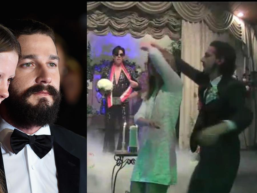 Shia LaBeouf se casa en Las Vegas y transmite la ceremonia en vivo por internet