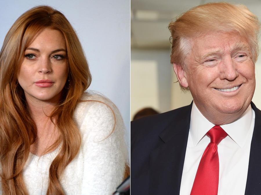 Donald Trump hace comentarios sexuales sobre Lindsay Lohan