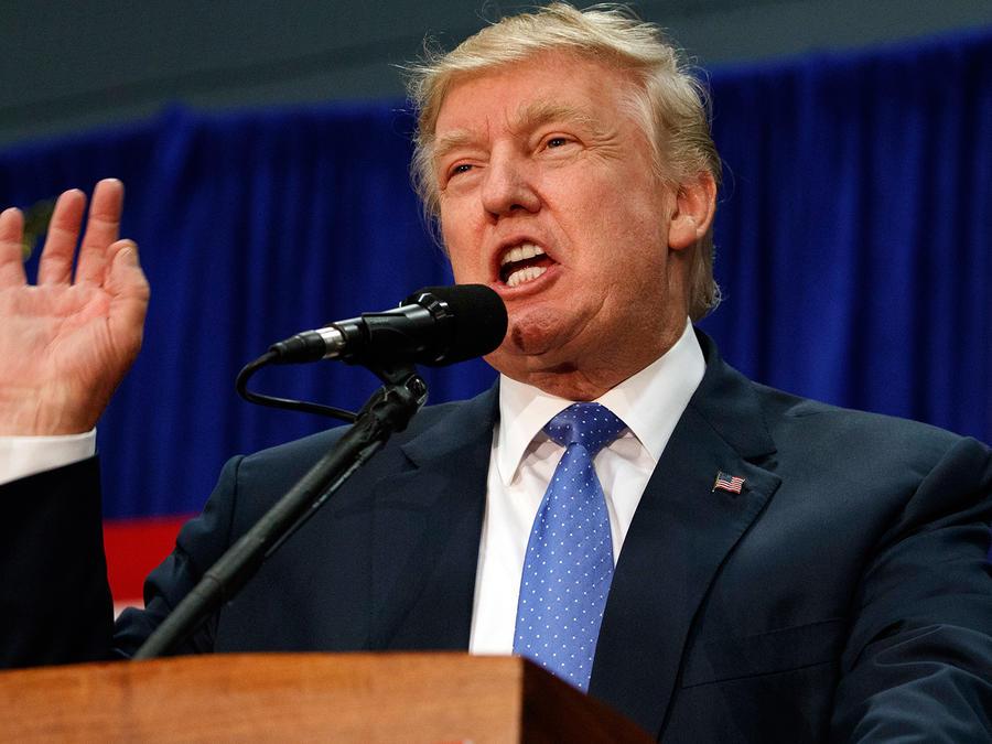 Donald Trump en un acto de campaña en Newtown, Pennsylvania el viernes 21 de Octubre del 2016