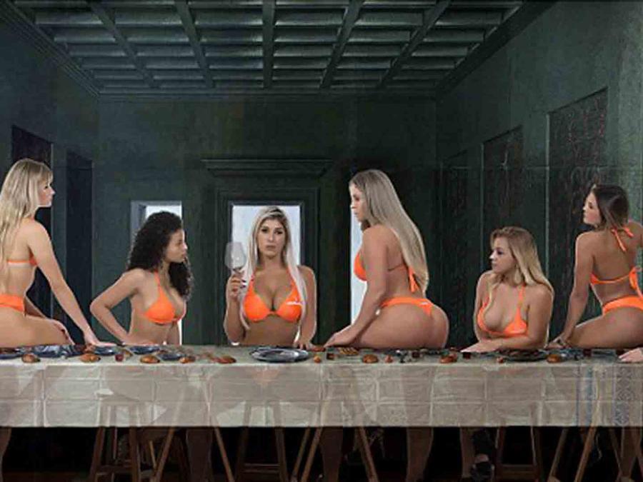 """Candidatas a Miss BumBum 2016 recrean """"La Última Cena"""""""
