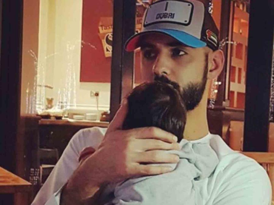 Omar Borkan y su bebé