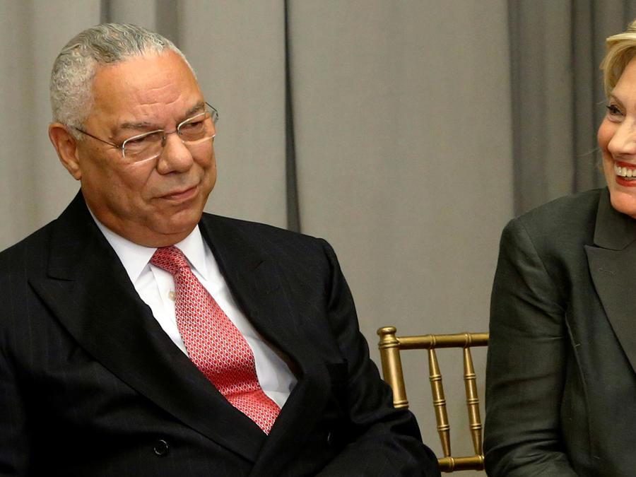 Powell y Clinton