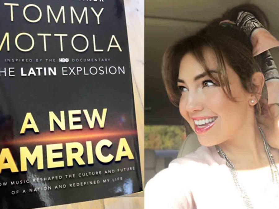 """Tommy Mottola le dedicó su nuevo libro """"A New America"""" a Thalía"""