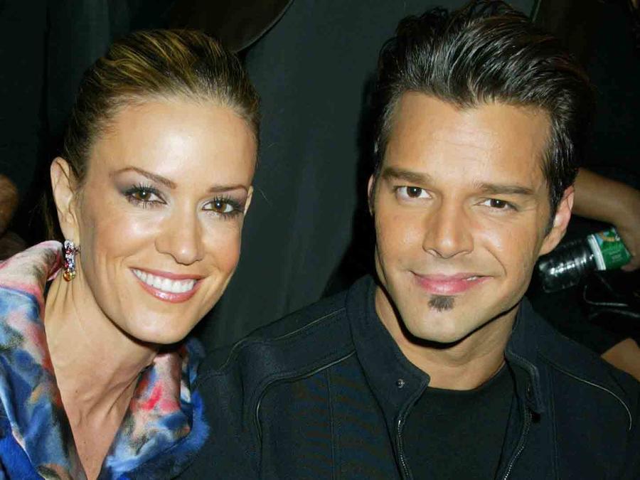 Ricky Martin y Rebecca De Alba en el desfile de Giorgio Armani Verano y Primavera 2005