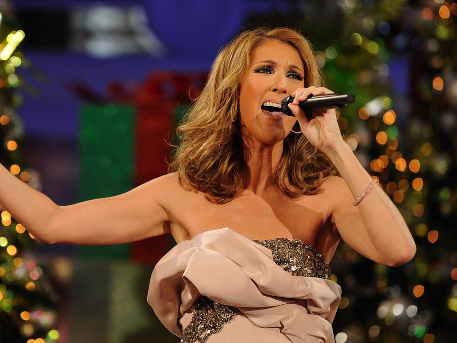 Celine Dion en evento de Disney
