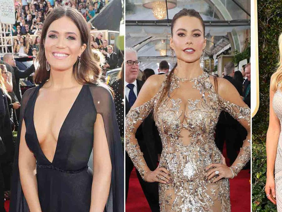 Sofía Vergara, Mandy Moore y Kristin Cavallari en la alfmobra roja de los Golden Globes 2017