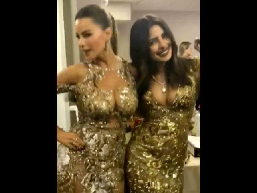 Sofía Vergara y Priyanka Chopra en los Golden Globes 2017