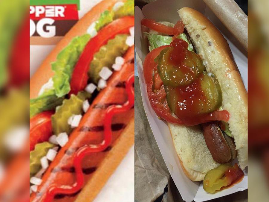 Hot dog mal hecho