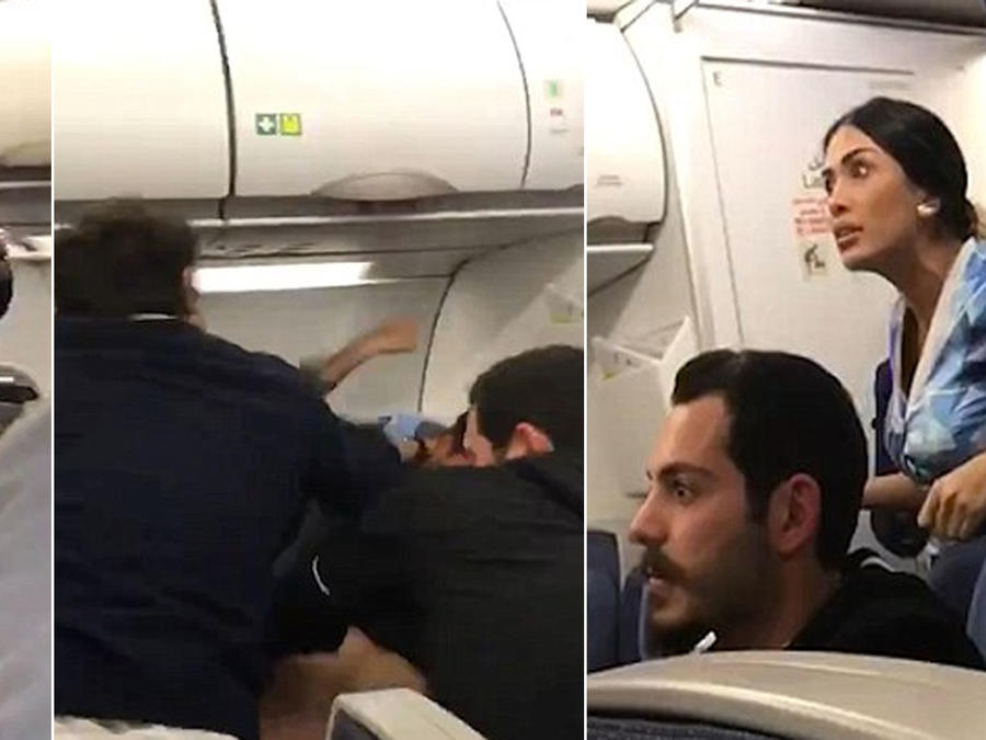 Violenta pelea en un avión obliga a un aterrizaje de emergencia (VIDEO)