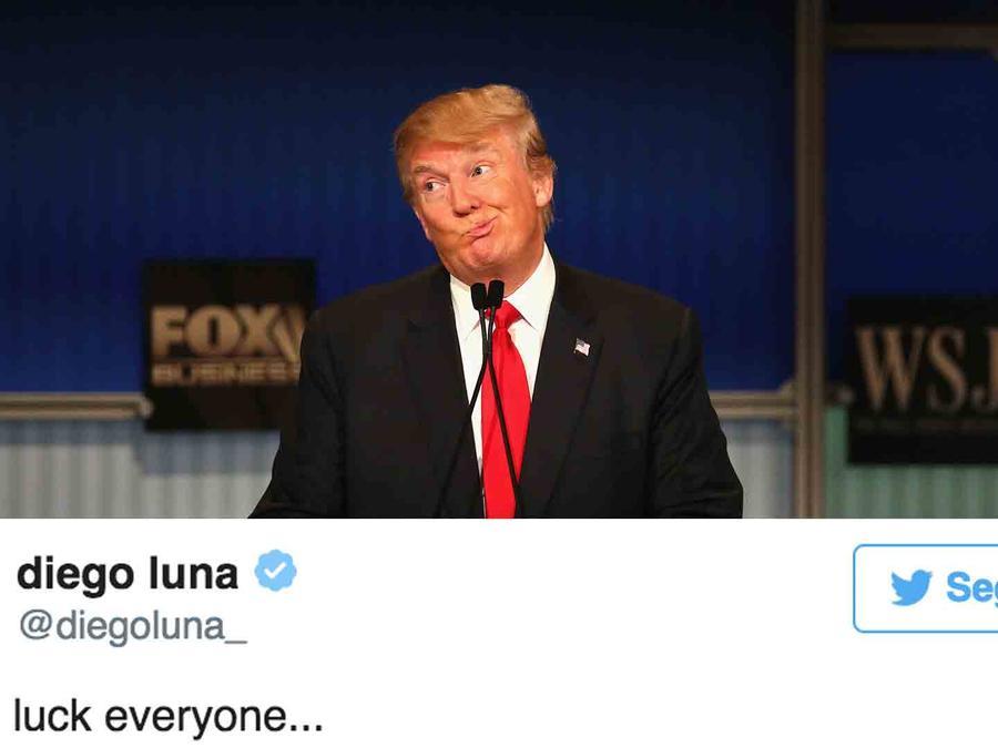 Donald Trump; tuit de Diego Luna