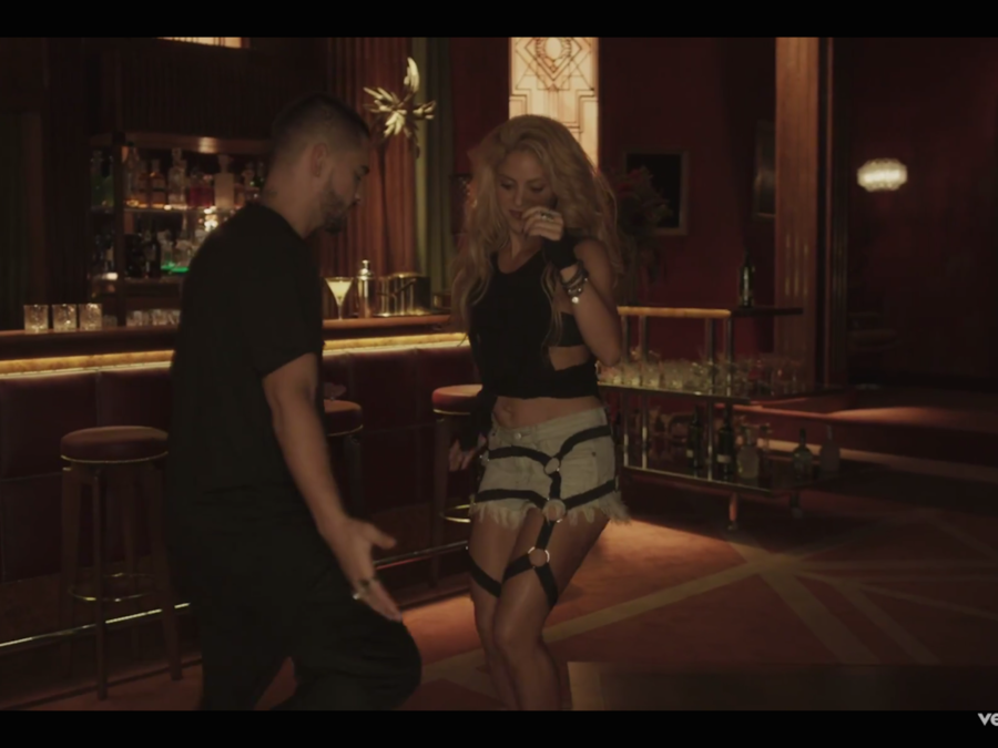 Shakira y Maluma en el video Chantaje