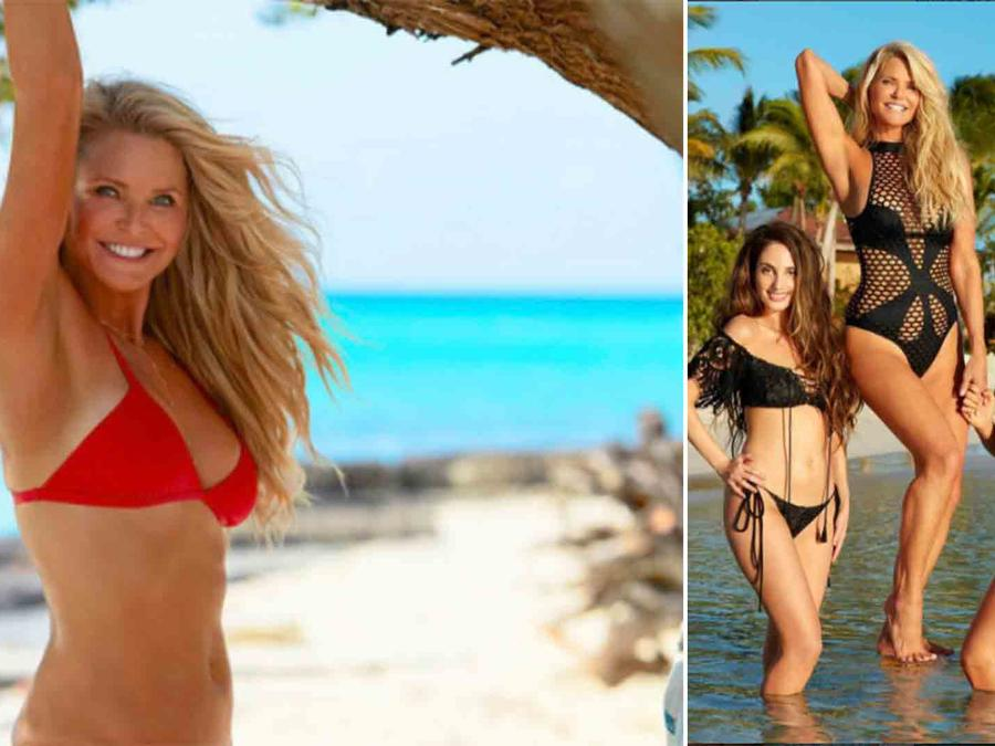 Christie Brinkley y sus hijas en Sports Illustrated
