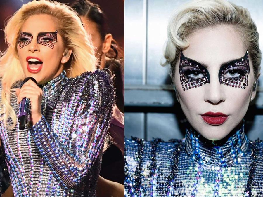 El maquillaje que Lady Gaga usó en el medio tiempo del Super Bowl 2017
