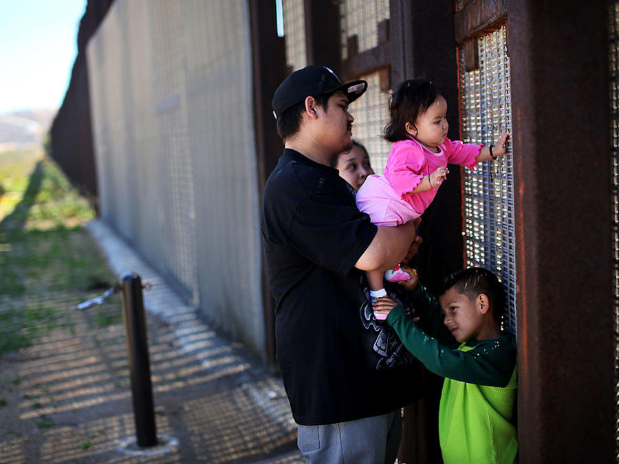 USA: Immigration: Family and Friends Meet along the U.S.-Mexico Border