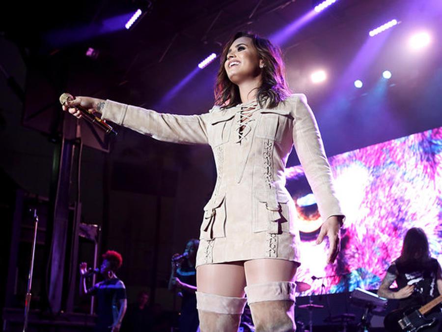 Demi Lovato en una presentación durante el 2016