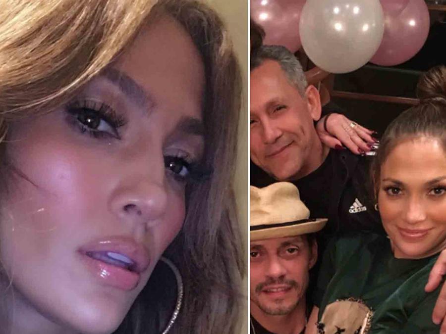 Jennifer Lopez y Marc Anthony en el cumpleaños de sus mellizos