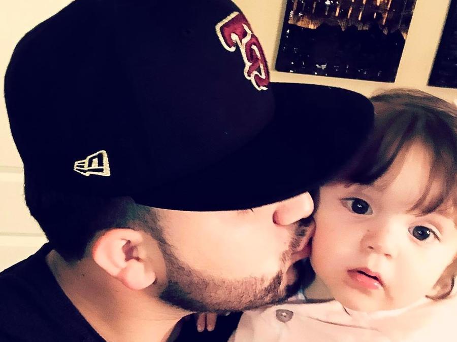 Kevin Ortíz y su sobrina Annalie