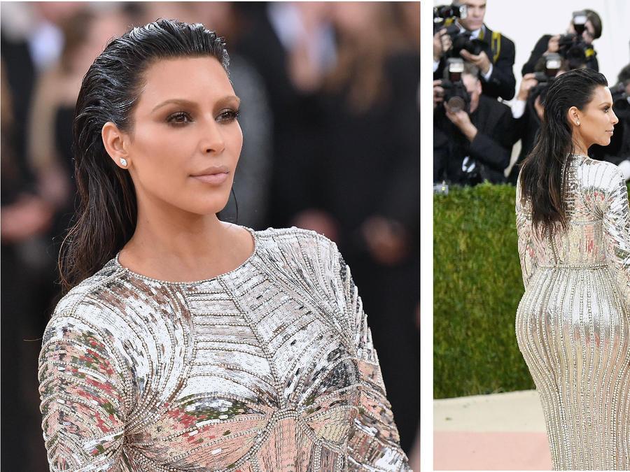"Kim Kardashian en la alfombra roja de ""Manus X Machina"""