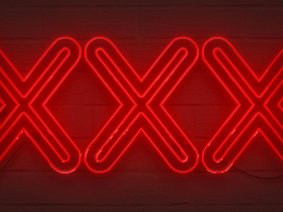 Letrero luminoso xxx