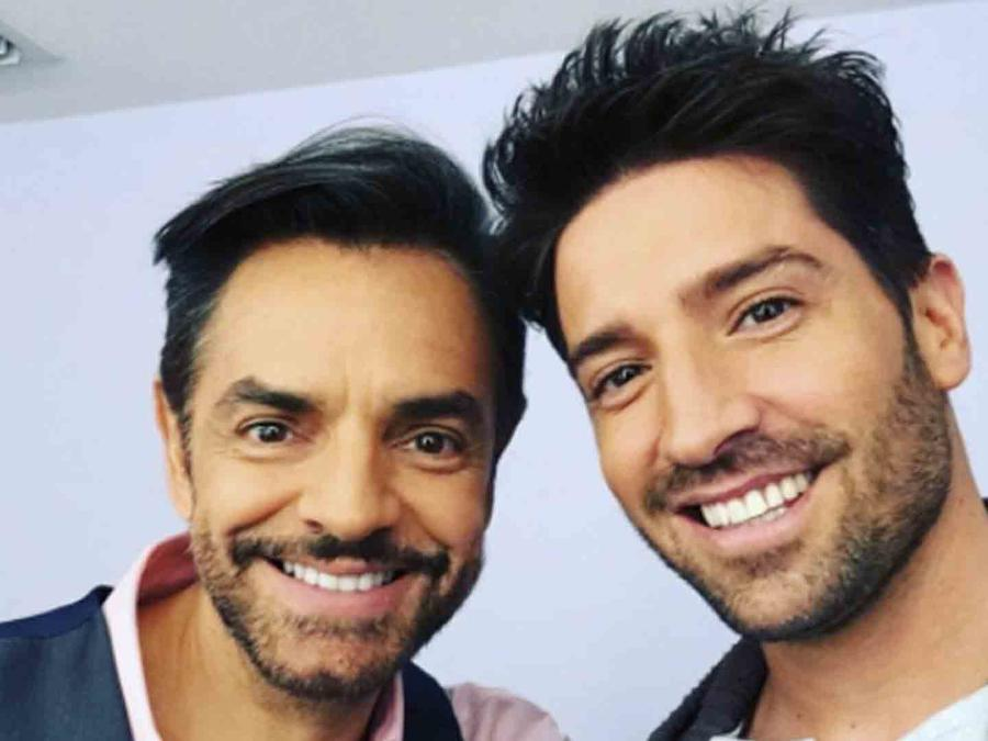 David Chocarro junto a Eugenio Derbez