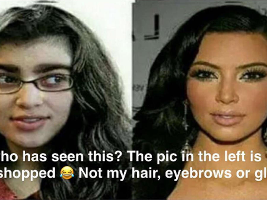 Kim Kardashian antes y despúes