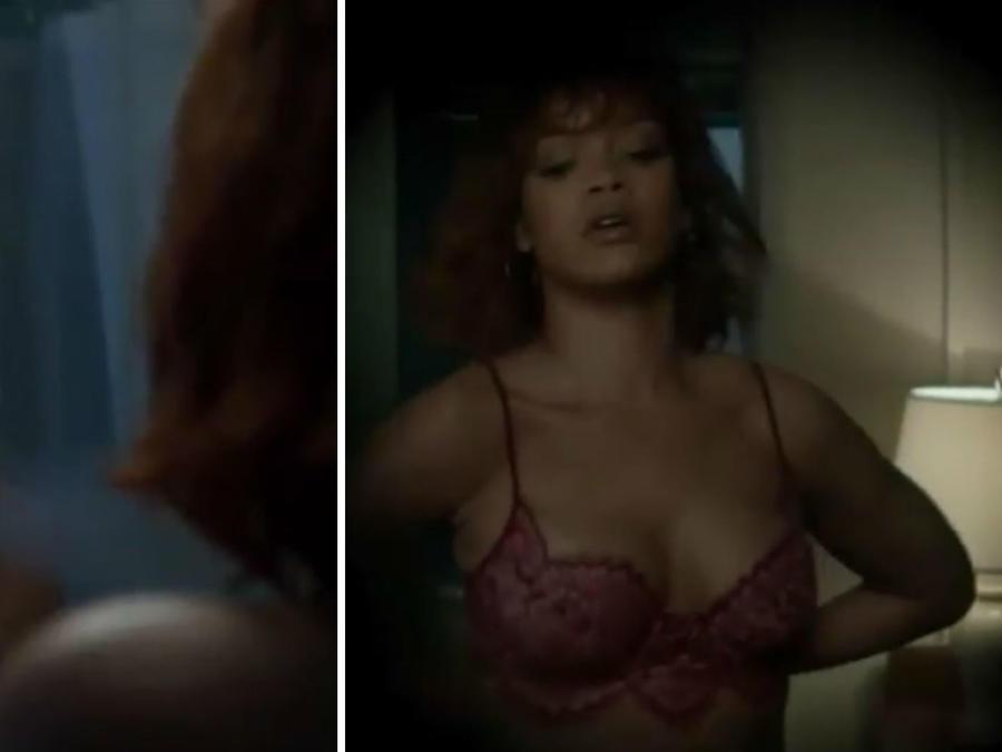 Rihanna desnudándose en una escena de Bates Motel